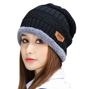 f9136f20d7853 Accessories - Winter Knitting Skull Cap Wool Slouchy Beanie Hat